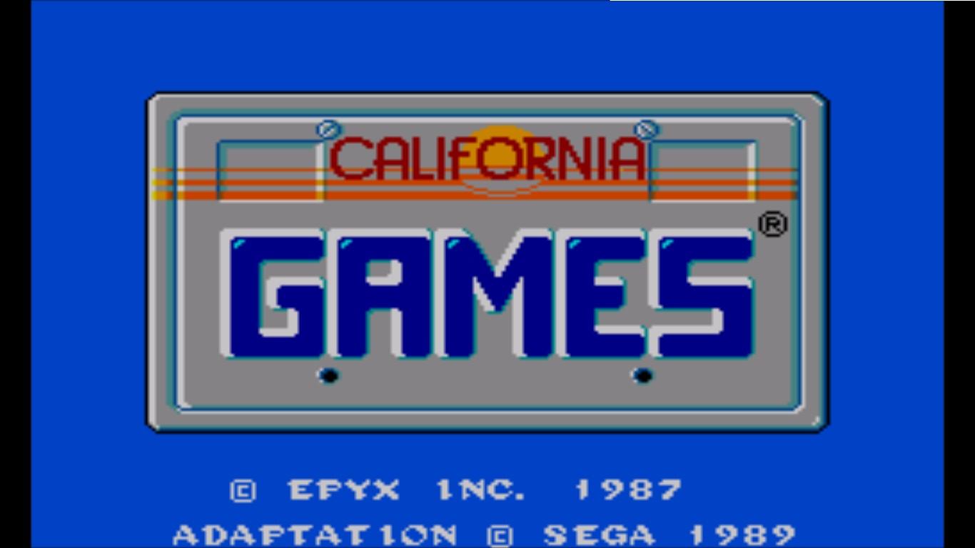 California Games Jogos De Verao 1989 Master System